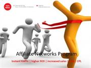 Cost Per Action based Affiliate Network Programs