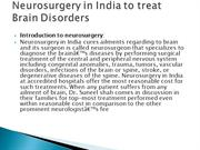 Neurosurgery in India to treat Brain Disorders