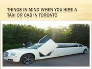 Things In Mind When You Hire A Taxi