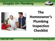 The Homeowner's Plumbing Inspection Checklist