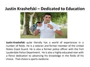 Justin Krashefski – Dedicated to Education