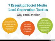 Social Media: An effective tool for Generating Leads