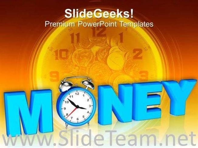 image of time value and money powerpoint template powerpoint template