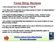 Forex Bling Review - Is it a Scam?