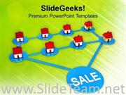 NETWORK OF REAL ESTATE SALE POWERPOINT TEMPLATE