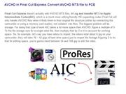 AVCHD in Final Cut Express Convert AVCHD MTS file to FCE