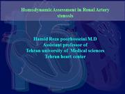 Homodynamic Assessment in Renal Artery s
