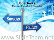 ROADSIGN OF SUCCESS AND FAILURE POWERPOINT TEMPLATE