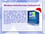 Windows Data Recovery Software 4.0