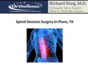 Spinal Stenosis Surgery In Plano, TX