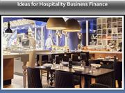 Ideas for Hospitality Business Finance