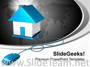 REAL ESTATE ON INTERNET POWERPOINT TEMPLATE