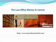 Marion B. Farmer | Criminal Defence Attorney