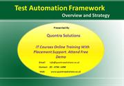 Test Automation Framework Online Training By Quontra Solutions