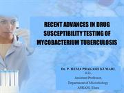 recent advances in diagnosis of  Tuberculosis