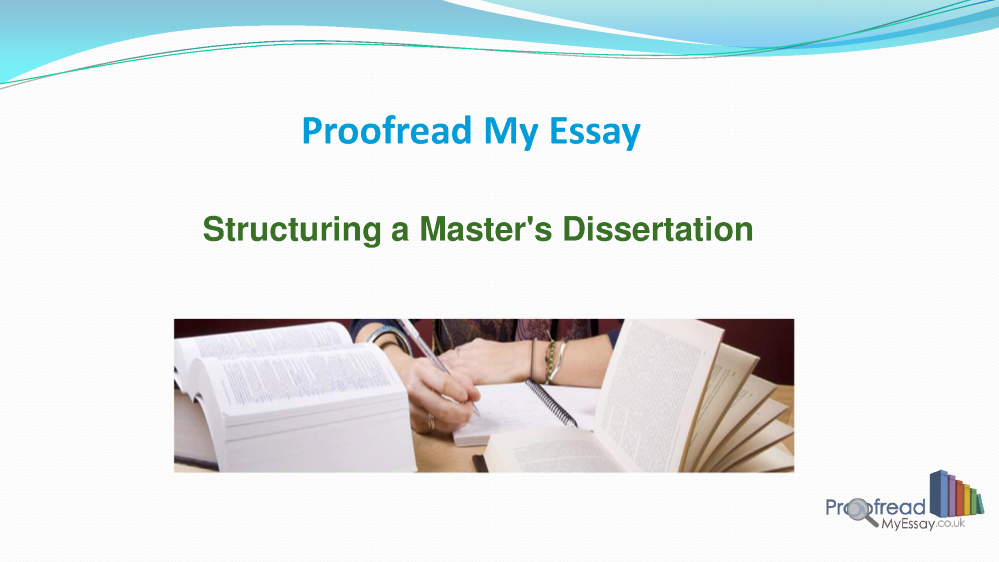 Structuring a dissertation