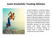 Justin Krashefski - Treating Athletes