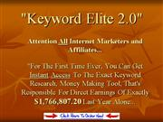 Elite Keyword Tool make money fast