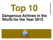 Top 10 Unsafe Airlines of the World in 2015