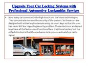 Upgrade Your Car Locking Systems with Professional Automotive