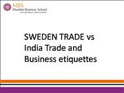 sweden vs India Foreign trade