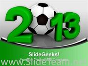 NEW YEAR THEME0IMAGE3 SYMBOL FOOTBALL CUP POWERPOINT TEMPLATE