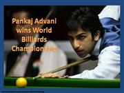 Pankaj Advani World Billiards Champion