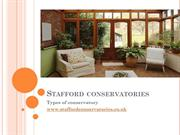 Stafford conservatories - Types of conservatory