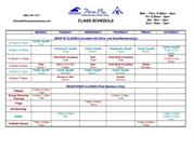 class schedule-Weight Loss, Yoga