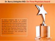 Dr. Barry Littlejohn MD: On-Time Physicians Award
