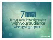 Seven tips for not panicking and engaging your audience when giving a