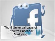 The 5 Universal Laws of Effective Facebook Marketing
