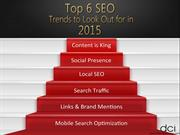 Top 6 SEO Trends to Look Out for in 2015