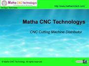 Matha CNC Technologys - CNC Cutting Machinesupplier