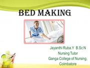 BED MAKING --GIHS