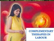 COMPLEMENTARY THERAPIES IN LABOUR - GIHS