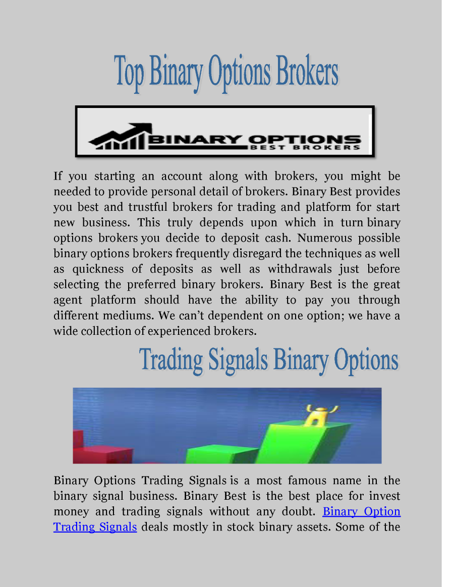 Reviews about binary options