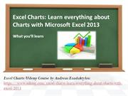 FREE COUPON - Microsoft Excel Charts: Udemy Course
