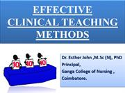 EFFECTIVE CLINICAL TEACHING METHODS -- GIHS
