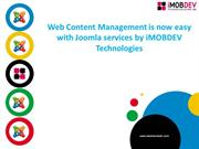 iMOBDEV offers end-to-end solutions with Joomla CMS