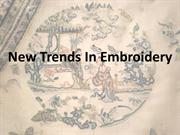 New Trends In Embroidery