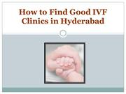How to Find Good IVF Clinics in Hyderabad