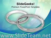 WEDDING RINGS FOR BEAUTIFUL MARRIAGE POWERPOINT TEMPLATE