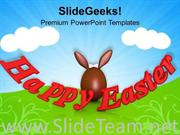 HAPPY EASTER RELIGIOUS FESTIVAL POWERPOINT TEMPLATE