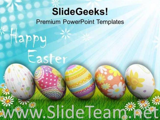 ORIGIN OF SPRING NEW LIFE HAPPY EASTER POWERPOINT TEMPLATE ...