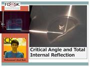 Critical Angle and Total Internal Reflection by Muhammad Ahad Butt
