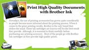 Print High Quality Documents with Brother Ink