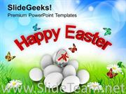 HAPPY EASTER DAY RELIGIOUS FESTIVAL POWERPOINT TEMPLATE