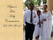 Ryan Abeyesundere receiving First Holy Communion