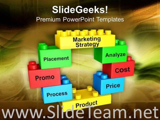 lego blocks forming circle marketing strategy powerpoint template